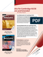 Mathematics for IGCSE Core Extended