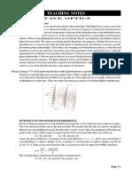 Wave Optics (Xiii)Teaching Notes