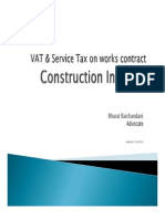 VAT and Service Tax on Works Contract
