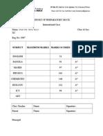 Report of Preparatory Mockigcse Sc