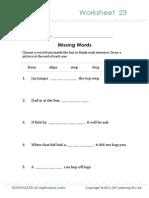 Oz Phonics Worksheet 23