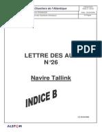 Lettre 26 (Tallink)