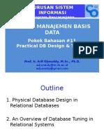Pokok Bahasan #11 DB Design & Tuning