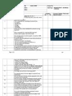 Audit Checklist - Material Control