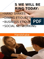business ettiquettes and social networking