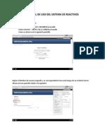 Manual Uso Del Sistema de Reactivos Para Estudiantes
