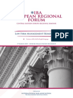 IBA European Regional Forum - Law Firm Management Roadshow, Roundtable, 19 Martie 2015, Bucuresti