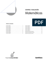 Fichas Evaluacion Mates 1 Casa Saber 2007.