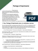 Imprimantes Partage d Imprimante