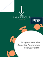 Insights from Imarticus Analytics Roundtable February 2015