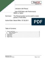 FlowCAD an PCB Reuse Panel