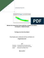 MEF Aplicado à Analise de Sólidos Conceção e Implementação_IST_2013