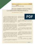 competencias Directivas Para La Gestion Pedagogica