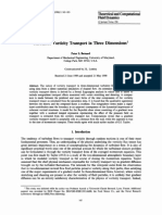 Turbulent Vortieity Transport in Three Dimensions