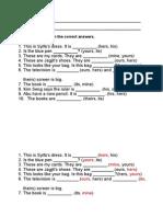 Lembaran Kerja Grammar Possessive Pronouns