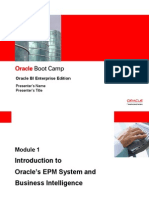 Introduction to Oracle EPM System and BI