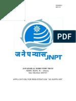 Application Registration Supplier