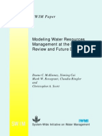 Modeling Water Resources Management at the Basin Level Review and Future Directions