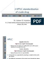 HPLC and HPTLC Standardazation [Read-Only]