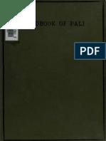 Frankfurter O.- A Handbook of Pali