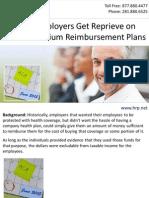 Small Employers Get Reprieve on Health Premium Reimbursement Plans