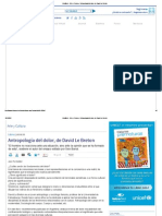 IntraMed - Arte y Cultura - Antropología Del Dolor, De David Le Breton