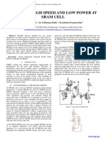 DESIGN OF HIGH SPEED AND LOW POWER 4T SRAM CELL