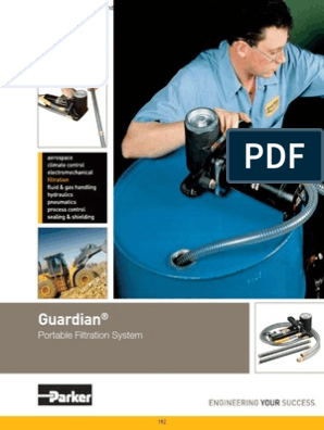 Parker GT4E Guardian Portable Filtration System /& Transfer Pump