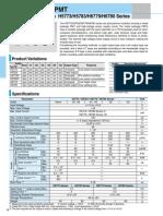 Hamamatsu Data Sheet PMT Packages