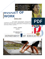 Budget of Work (English)