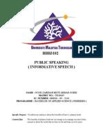 Outline Informative Speech