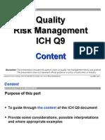 Ich -q9 Quality Risk Management Ótimo
