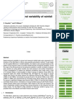 Spatial and temporal Rainfall Variability Nile River
