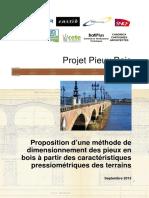 Proposition Dune Methode de Dimensionnement Des Pieux en Bois a Partir Des Caracteristiques Pressiometriques Des Terrains