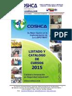 Listado y Catalogo Cursos Coshca Company Inc 2015