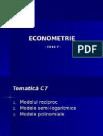 Curs7 Econometrie Regr Neliniara