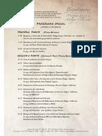 Programa de actividades por el bicentenario del fallecimiento de Mariano Melgar