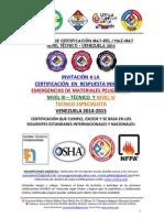 Invitacion Certificacion Matpel Nivel III