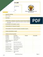 Klac Agm Agenda 2014-15