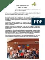 Article Sejour Aout 2014