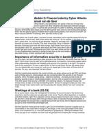 Finance Industry Cyber Attacks
