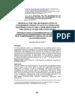 Propuesta Para La Determinacion de Factores Conductuales