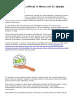 ¿Son Saludables Las Dietas De Marcacion? — Ejempla