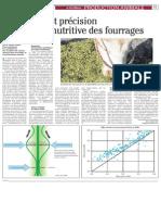 Estimation Et Précision de La Valeur Nutritive Des Fourrages.