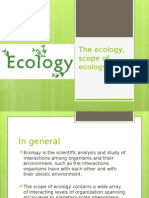 The Ecology Scope of Ecology