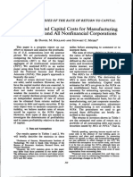 Holland, D. M., & Myers, S. C. (1980). Profitability and Capital Costs for Manufacturing Corporations and All Nonfinancial Corporations. the American Economic Review