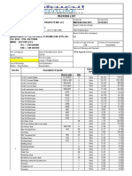 Invoice Packing List 1054
