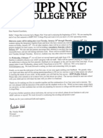 Letter to Our Families - January 2010