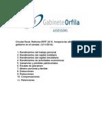 Circular Noviembre 2014. Reforma Fiscal 2015 IRPF