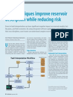New Techniques Improve Reservoir Description While Reducing Risk